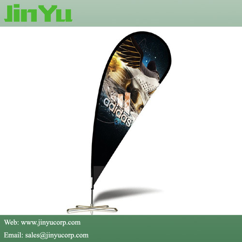 Promotional Teardrop Flying Flag Banner with Cross Base