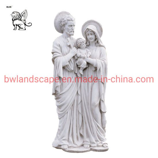 Marble Religious Sculpture Hand Carving Holy Family Figure Statue Msd-22