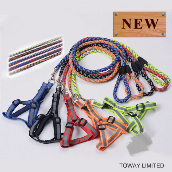 Quality Nylon Lead Reflective Polyester Dog Harness with Leash pictures & photos