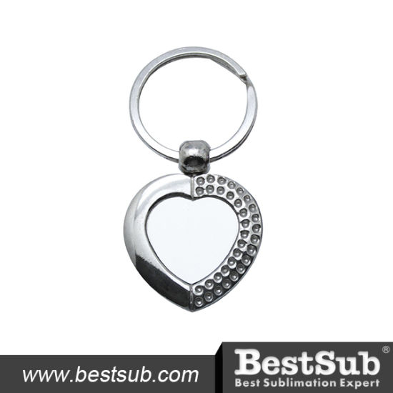 Sublimation Personalized Heart Shaped Zinc Alloy Key Ring (YA55) pictures & photos