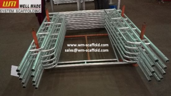 Construction Concrete Framework Support Walk Through Frame Scaffolding