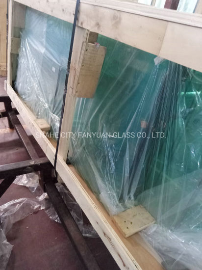12mm Toughened Laminated Tempered Bathroom Glass for Railing Fence Door Balustrade Curtain Wall