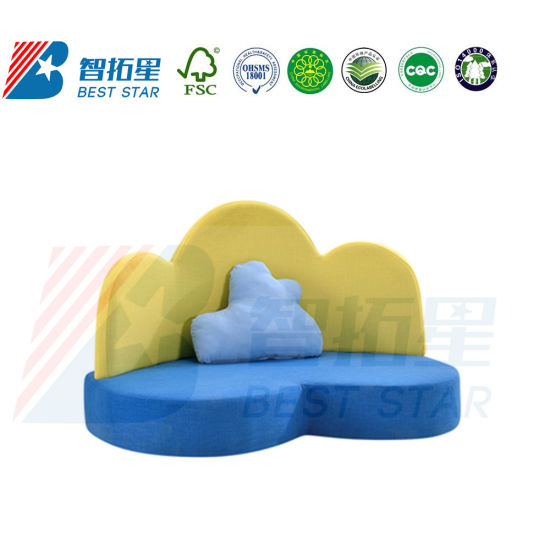 Day Care Center Sofa, Kids Fabric Sofa, Baby Sofa for Preschool and Kindergarten, Children Playground Furniture, Home Furniture and Living Room Baby Sofa