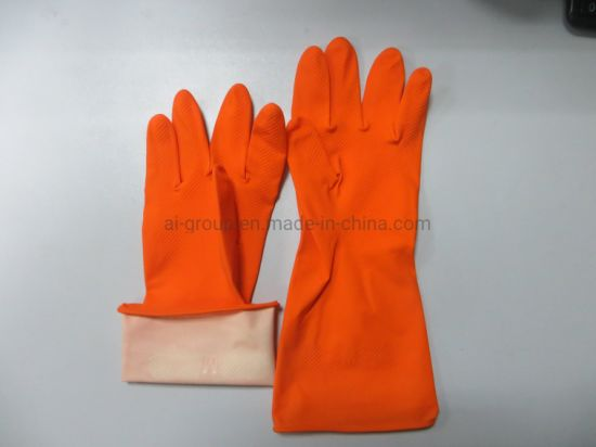 Cleanroom Kitchen Heat-Proof Latex Glove/Household Laundry Gloves pictures & photos