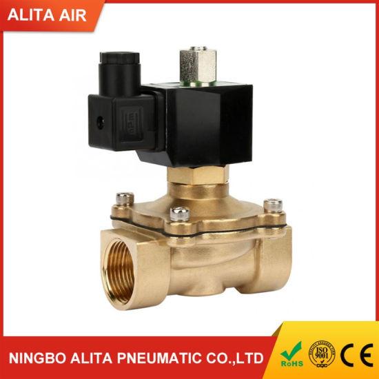 Electric Solenoid Valve AC220V- 1 Fluid Controller G1 Electric Solenoid Valve DN25 NC Brass Electromagnetic Valve