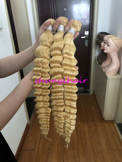 Top Quality Wholesale Price 613 Deep Wave Bundles with Frontal and Closure