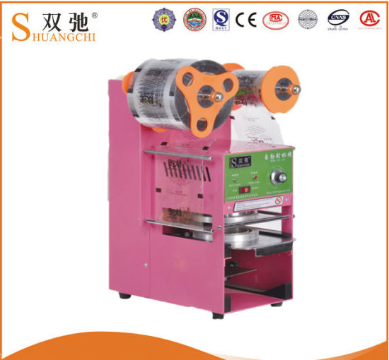 Shuangchi Supply Hot Sale Electric Automatic Cup Sealing Machine pictures & photos