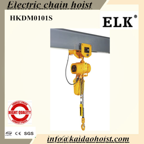 China 1ton Electric Hoist 1ton Small Monorail Overhead Electric