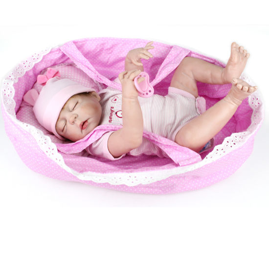 Lifelike Newborn Baby Dolls 22′′ Full Silicone Vinyl Reborn Dolls pictures & photos