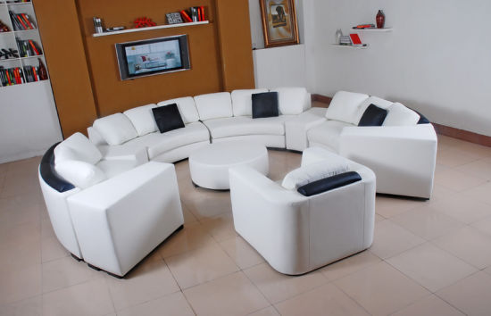 Leisure Sectional Leather Sofa Set for Home Furniture (HC1043) pictures & photos