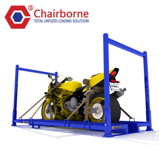 Warehouse Steel Movable Motorcycle Pallet Rack Stacking Rack
