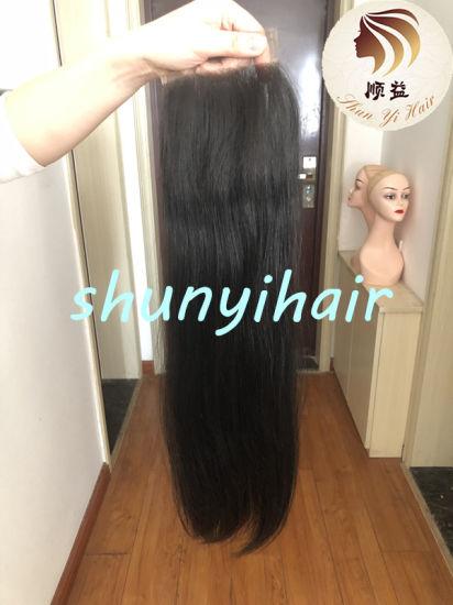 Wholesale Virgin Hair Swiss Lace Vendors Malaysian Straight Human Hair 4*4 Lace Closure