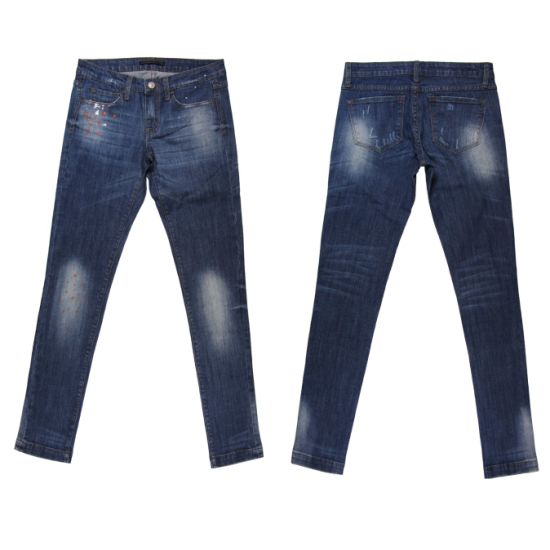 High Quality Lady′s Print Washing Jeans (MY-004) pictures & photos