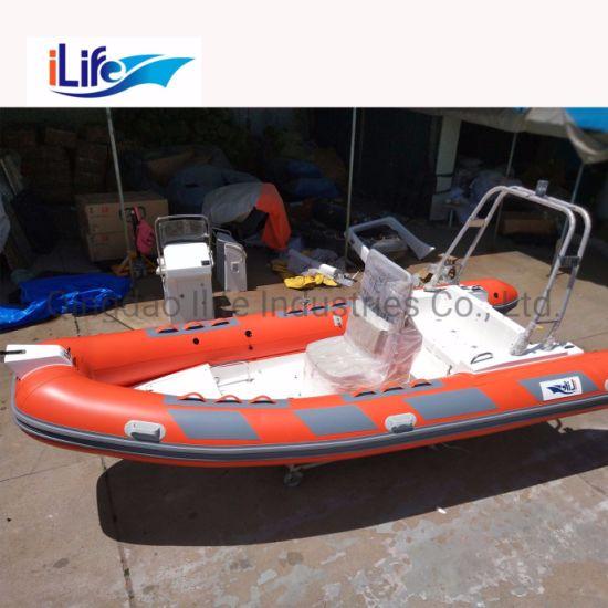 Ilife (CE) 17 7FT 5 4m 10 Persons Fishing Rib Boat Best Selling China  Fiberglass Hull Rigid Boat