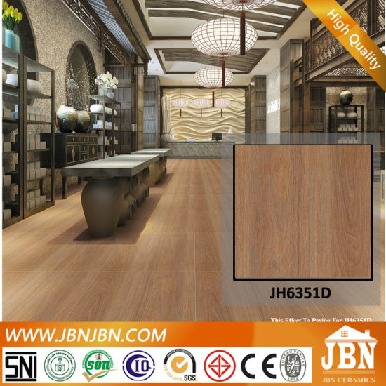 China Foshan Manufacturer Wooden Floor Rustic Tile For Bedroom