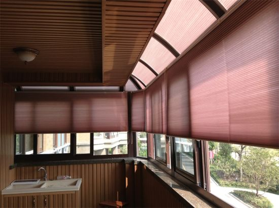 Home Decoration Effect Photos for House Balcony Honeycomb Blinds Curtains pictures & photos