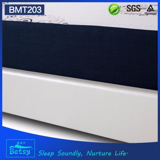 OEM Compressed Sliced Foam Mattress 25cm High with Gel Memory Foam and Knitted Fabric Zipper Cover pictures & photos
