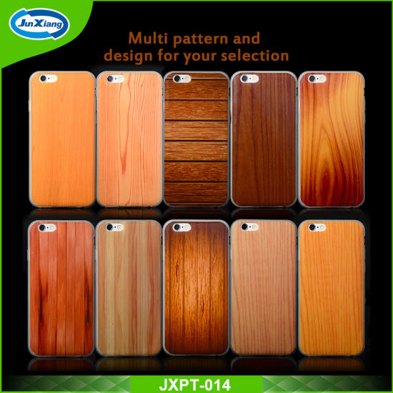 New Arrival IMD Wood Pattern Soft TPU Mobile Phone Case for iPhone 6 6s