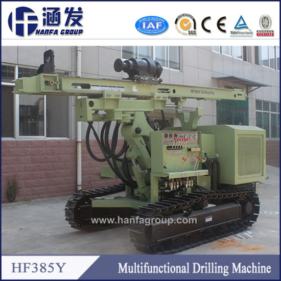 Low Price Water Drilling Rigs, Guardrail Post Driver, Hf385y Solar Pile Driver for Sale pictures & photos