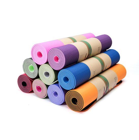 Dfaspo TPE Yoga Mat Double Color Wholesale