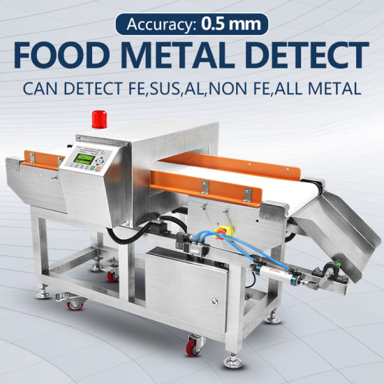 Touch Screen Conveyor Food Metal Detector for Food Processing