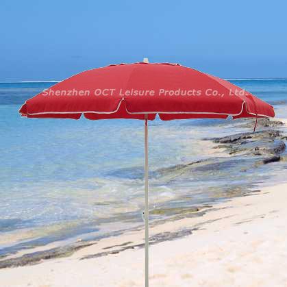 Aluminum Beach Umbrella with Fiberglass Ribs (OCT-AUFBPOLY)