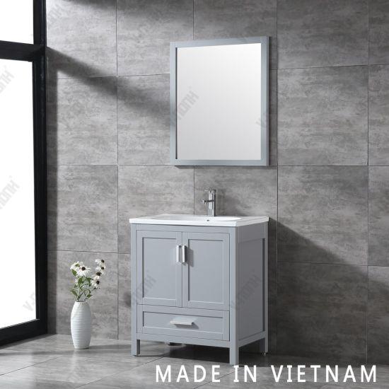 30 Grey Bathroom Sinks And Vanities, Corner Bathroom Sinks For Small Spaces