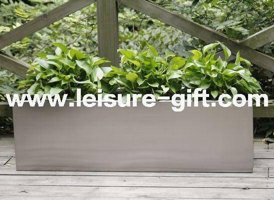 China Fo 9016 Stainless Steel Flower Pot Rectangular Planter China