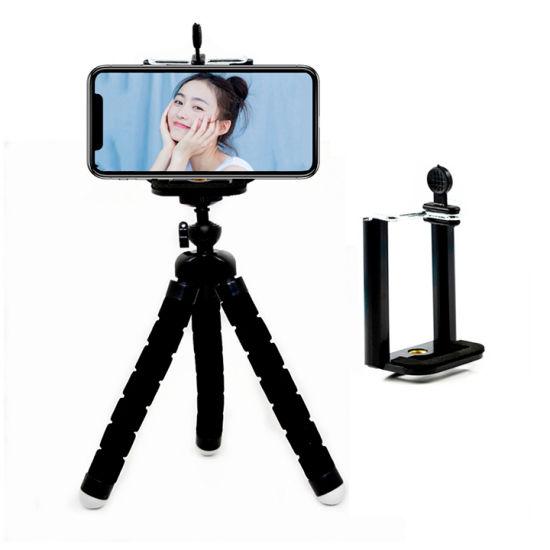 Cute Sponge Flexible Telescope Portable Tripod Mobile Phone Tablet Stand Bracket Cell Phone Holder