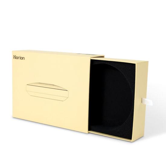 Firstsail Luxury Custom Kraft Smart Electronics Sliding Drawer Packaging Box with Black EVA Foam Insert