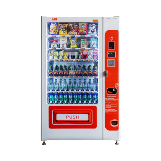 Automatic Combo Refrigerated Vending Machines for Snacks and Beverages (XY-DLE-10C)