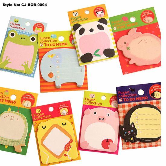 Cute Animal Pattern Office School Paper Sticky Note Book