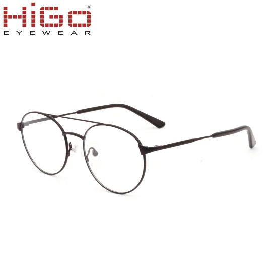 Comfortable Metal Glasses, Circle Lens Spectacle Frame, Eye Glasses for Woman and Man