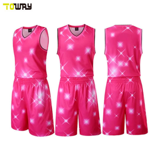 b363eec0040 China Dri Fit Cheap Youth Pink Basketball Uniforms - China Pink ...