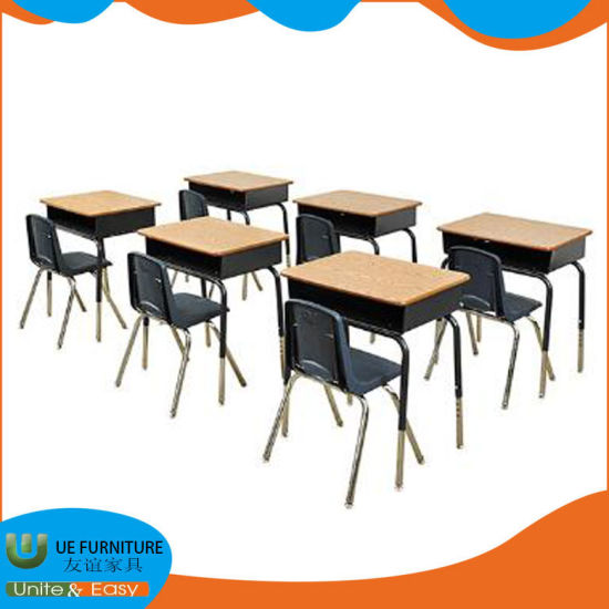 Professional School Furniture Production Factory Supply Manual Ergonomic Adjustable Desk and Chair for Classroom