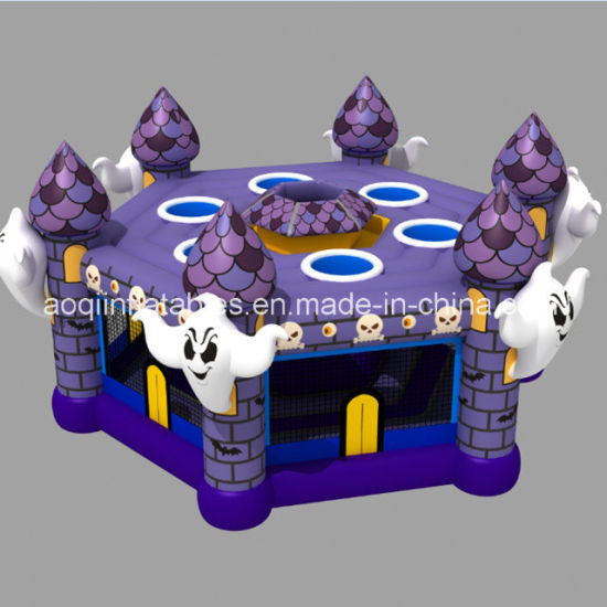 Aoqi New Design High Halloween Inflatable Whack a Mole Game for Sale (AQ01864) pictures & photos
