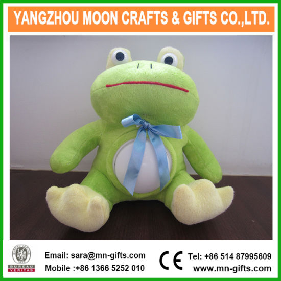 Custom Soft Bear Light up Toys LED Colorful Light Plush Frog Toys