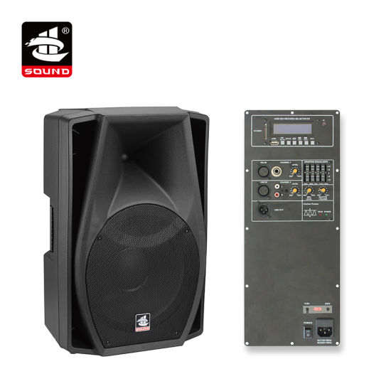 15 Inch 350W Digital AMP EQ Plastic Active PA Bluetooth Speaker (PS-2215DEBT)