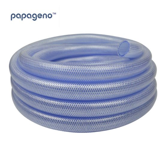 Clear PVC Tubing Polyester Reinforced Hose Pipe