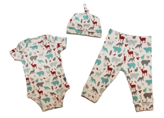 Bkd Fashion Organic Cotton Infant Clothing Import Baby Clothes Set