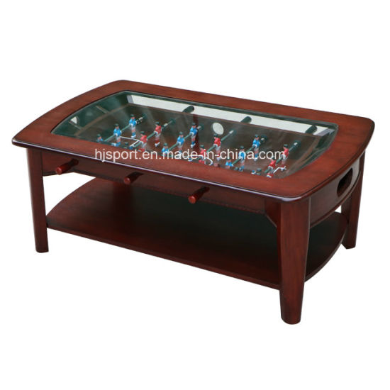 Superior Quality Multi Functions Solid Wood 2 In 1 Coffee Soccer Table