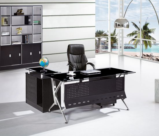 Glass Office Table Executive Table Modern Office Furniture 2019 Tempered  Glass High Quality Desk New Design Office Desk