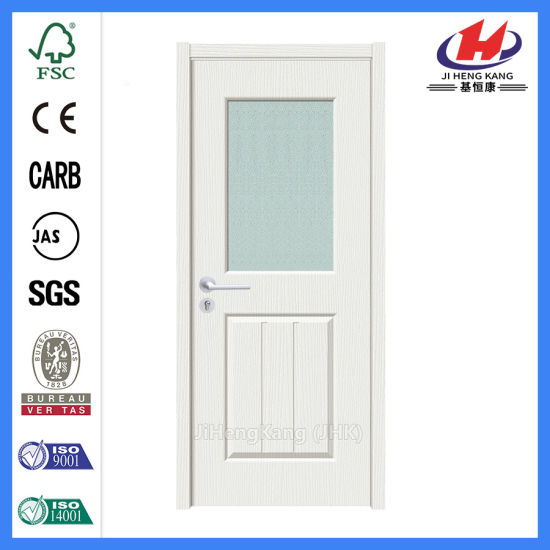 China Interior Single French Blinds Frosted Glass Panel Door China