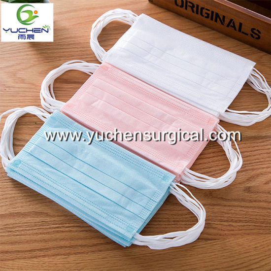 Manufacturer Supply High Filtration Non Woven 3ply Disposable Face Mask for Protection