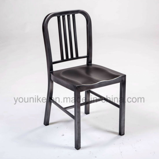 Outdoor Furniture Dining Chair Tolix Chair Vintage Metal Navy Chair