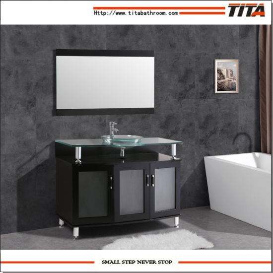Tempered Glass Top Bathroom Cabinet T9148-24e pictures & photos