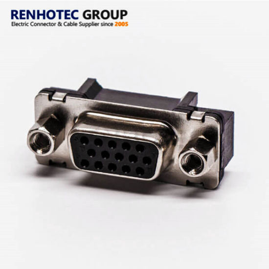 D Sub 15 Pin Connector with Nut