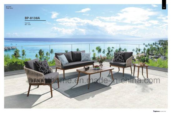 Elegant and Modern Patio Rattan Wicker Furniture Resin Outdoor Sofa Furniture