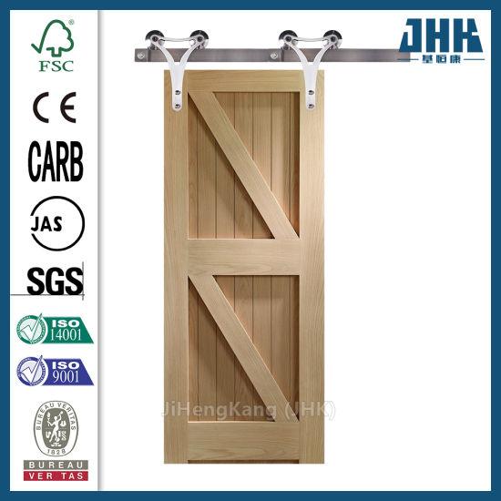 Laminated Interior Mould HDF Sliding Cloth Wood Door