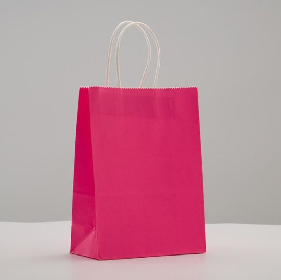 Strong Recycled High Quality Plain Cheap Paper Bags Kraft Colour with Twisted Handles pictures & photos